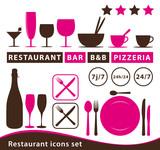 Fototapety Restaurant icons set