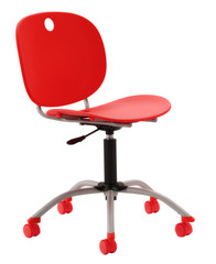 red modern isolated office chair
