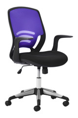 purple black isolated office armchair