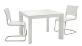 white minimal table and chairs poster