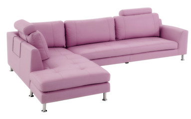 isolated pink couch