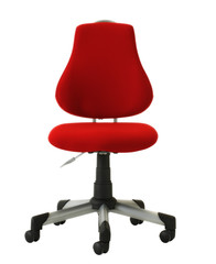 red isolated ergonomic office chair
