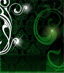 the vector green abstract background