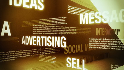 Advertising Related Words Background Loop