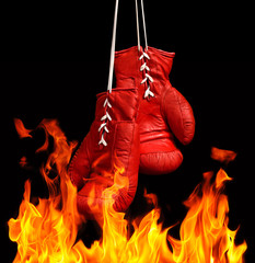Boxing Gloves & fire