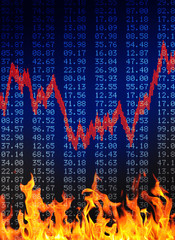 Flaming Finance background