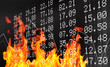 Stock market flames