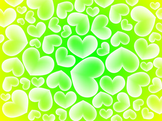 vintage background with hearts