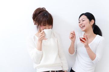 beutiful asian women talking