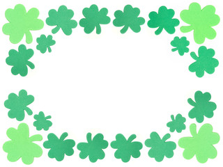St Patricks Day shamrock frame