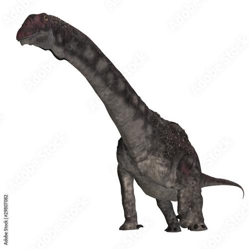 Dinosaur Diamantinasaurus. 3D rendering with clipping path and