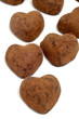chocolate heart shaped bonbons