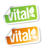 Vital stickers. poster