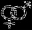 Diamond male and female gender symbols