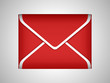 EMail and post: Red sealed envelope