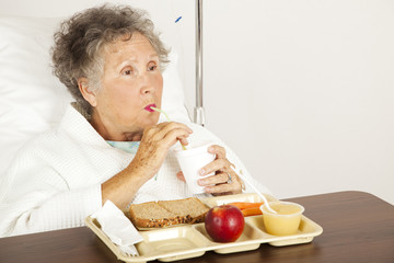 Hospital Senior Has Lunch