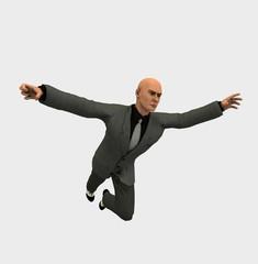 Uomo d'affari in volo