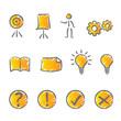 Presentation icons set