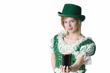 St Patty's waitress