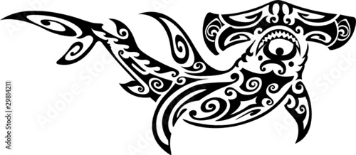 Hawaiian Tribal Tattoo on Hammerhead Shark Tattoo    Inspirationupload  29814211   See
