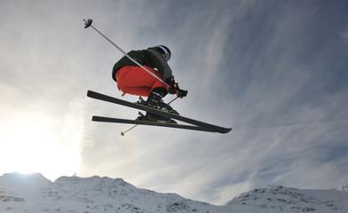 extreme freestyle ski jump