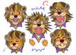 ライオン 男性 喜ぶ悲しむ怒る驚く泣く笑う