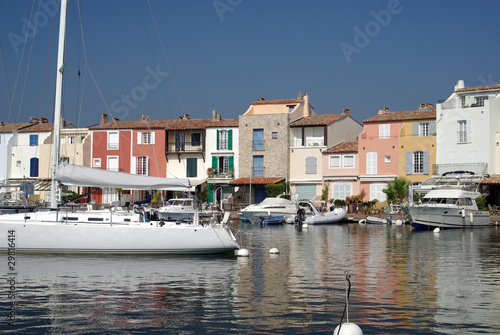 The lagoon town of Port Grimaud in France