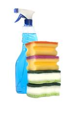 Detergent and sponges