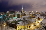 Fires of winter old Tallinn - Fine Art prints