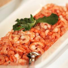 leckere garnelen oder krabben