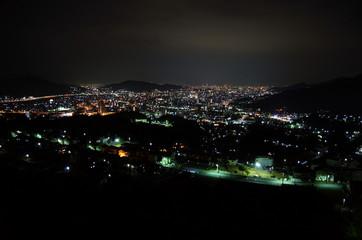 毘沙門台からの夜景_01