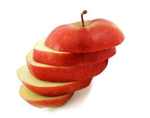 cut red apple