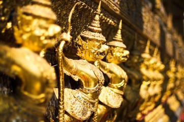 Garuda catch naga in Temple, Bangkok, Thailand