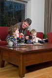 Family in a livingroom poster