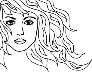 illustration eines frauenkopfes