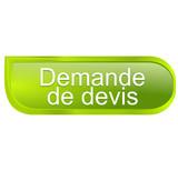demande de devis sur bouton design vert poster