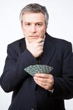 Businessman gambling poster