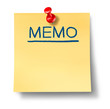 memo reminder yellow office note red thumb tack business