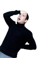 man caucasian backache pain