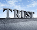 Trust honor core values business symbol stone text sculpture poster