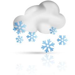 Symbole vectoriel météo neige 01