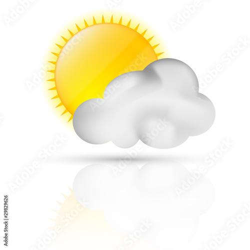 Symbole vectoriel météo éclaircie 01