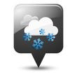 Symbole vectoriel météo neige 03