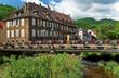 Rivière traversant Thann , Alsace (Fr)