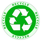 Recycle logo in circular design