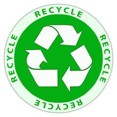 Recycle logo in circular design