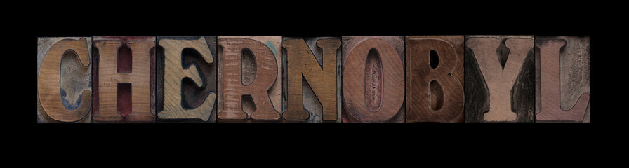 Chernobyl in old wood type