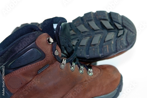 Close up of a hiking boot