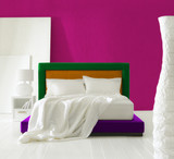 colorful minimal bedroom poster