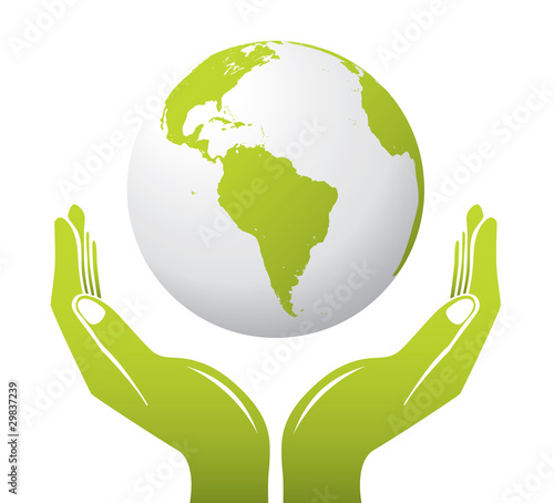 Globe with Hands - 29837239